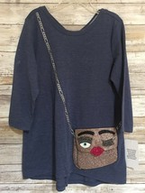 NWT Jessica Simpson Collectibles Blue Long Sleeve with 3D purse for girl... - $10.89
