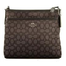 NWT COACH FILE BAG Crossbody Signature Fabric Shoulder Bag Raspberry F29960 - $101.97