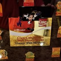 Original RARE NUMBERED Coca Cola WALT DISNEY WORLD 15th Birthday Framed Pin Set image 2