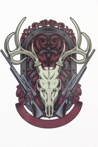 Guns with Skull of Goats Tattoo 21 X 15 CM Sized Sexy Cool Beauty Tattoo... - $1.76