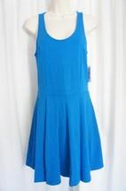 Jessica Simpson Dress Sz S D. Blue Paisley Textured Pleated Skater Casua... - $36.26
