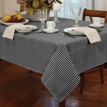 Gingham Kariert Schwarz Weiß Quadratisch 86.4X86.4cm 90X90CM Table Cloth - $9.64