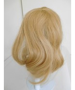 """Long Blonde Human Hair Wig for 10"""" Doll Head Old Store Stock - $38.99"""