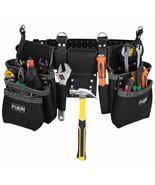 Black Professional Belt framer's combo Tool Pouch Carpenter 11 Pocket To... - $181.24