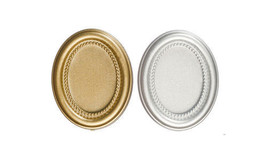 Dollhouse Miniatures 1:12 Scale 2 PC OVAL FRAMES WITH GLASS #G7336 - $4.99