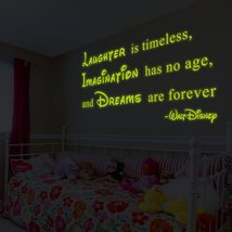 "( 63"" x 34"" ) Glowing Vinyl Wall Decal Walt Disney Quote / Glow Dark Say... - $146.81"