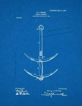 Ship's Anchor Patent Print - Blueprint - $7.95+