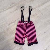 Pink Black PANTALOONS SUSPENDERS Costume S - $33.66