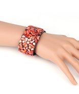 UNITED ELEGANCE Bold Cuff Wristband With Eye Catching Colored Stones - $11.99