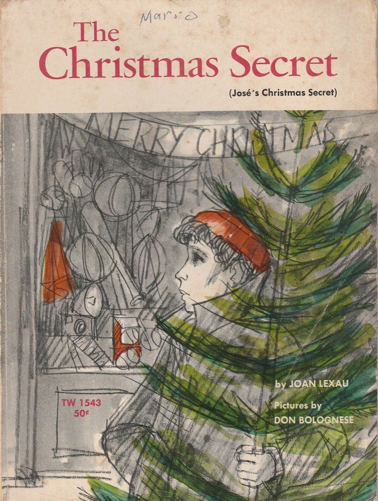 The Christmas Secret by Joan Lexau and Don Bolognese 1969 Scholastic Paperback