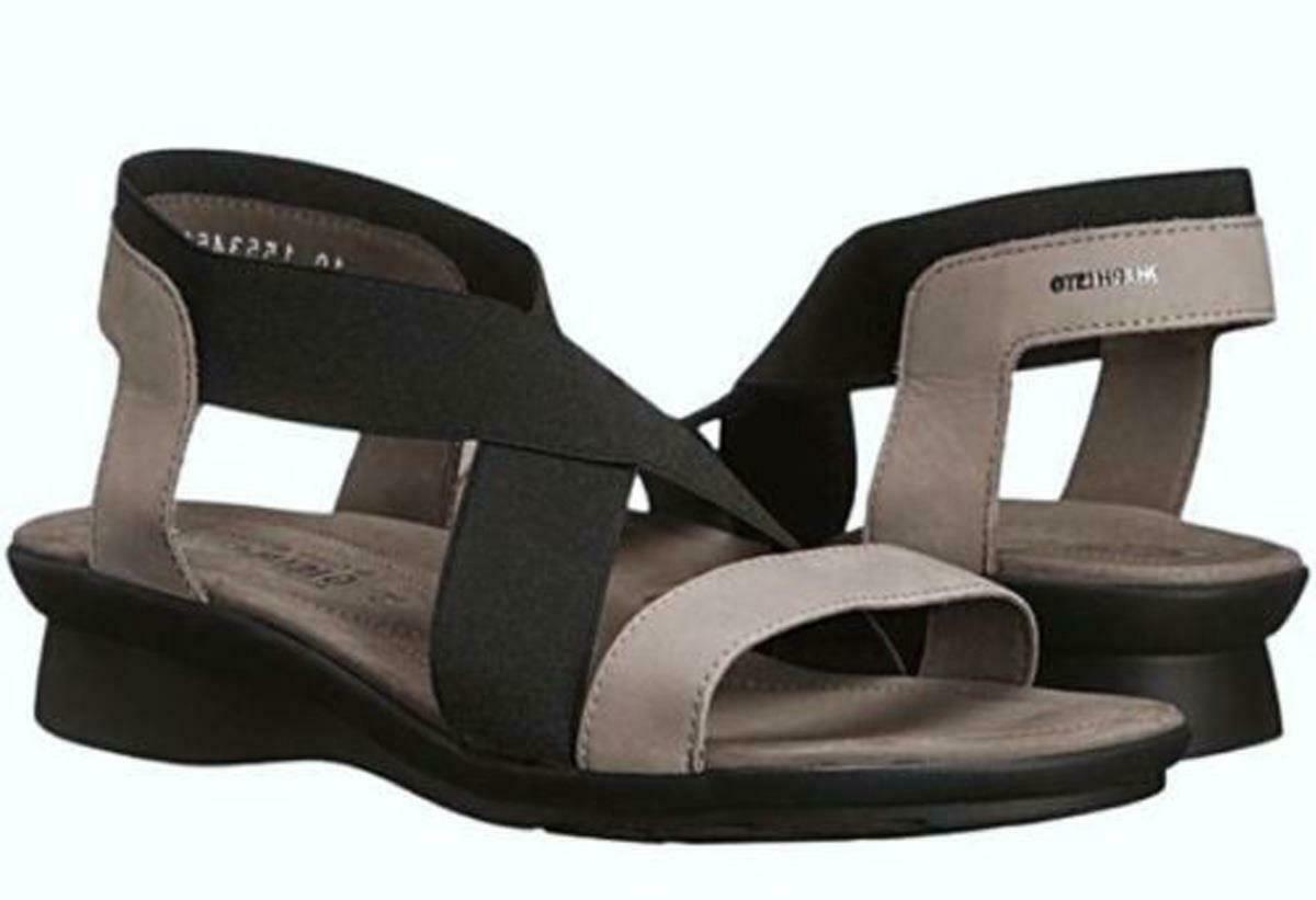 New in Box - $295 Mephisto Pastora Warm Grey Bucksoft Sandals Size 6