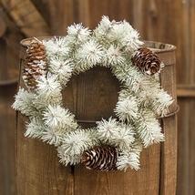 Snowdrift Pine Ring Wreath Candle Centerpiece   - $36.50