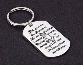 Prayer Keychain Gifts for Women Men God Grant Me The Serenity Inspiratio... - $8.26