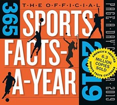 """365 Sports Facts-A-Year Page-A-Day Desk Calendar 2019 [5.5"""" x 6"""" Inches] - $12.06"""
