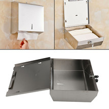 New Brushed Convenient Metal C Fold Paper Hand Towel Wall Dispenser Silver - $27.03