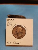 1948- DWashington Quarter Better Date 90% Silver!!! LOOK!!!  - $6.44