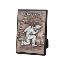 Lighthouse Christian Products Moments of Faith Fireman Small Sculpture P... - $25.62