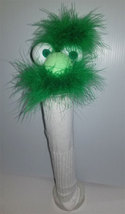 "D21 * Basic Custom ""Green Mustached Wacky Guy""  Sock Puppet * Custom Made - $5.00"