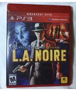 PS3 Playstation 3 LA Noire Greatest Hits Red Video Game Sealed NIP NEW - $17.99