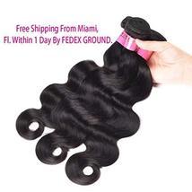 Body Wave Weave Brazilian Virgin Hair Bundles with Closure Unprocessed Brazilian image 4