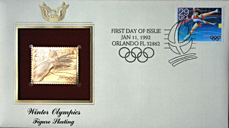 Primary image for WINTER OLYMPICS - Figure Skating  FIRST DAY OF ISSUE STAMP: Jan. 11, 1992