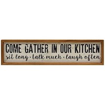 Rustic style Gather in our kitchen wood frame Farmhouse wall sign family gifts - $39.59