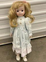 Ornamental Porcelain Collectable Blonde Hair Doll - $10.00