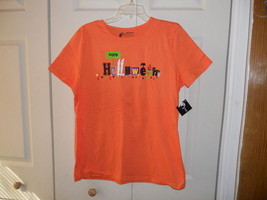 Ladies NWT Holiday Editions Orange Halloween Tee Large - $8.99