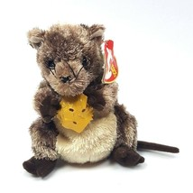 Ty Beanie Babies Cheesly Mouse With Cheese 2004 Bean Bag Toy - $9.89