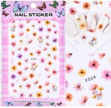 "HS Store - 1 pcs ""F-024"" 3D Sweet Beauty Flower Sticker Nail Art Decal Nail - $2.62"