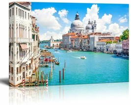 Canvas Prints Wall Art - Beautiful Landscape/Scenery Grand Canal with Ba... - $99.99
