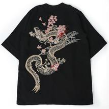 Kawaii Clothing Harajuku Kimono Jacket Dragon Japanese Chinese Korean Pu... - $23.07