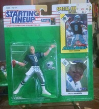1993 Football Starting Lineup Troy Aikman Dallas Cowboys Sealed b55 dual card - $8.79
