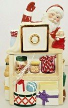 Lenox Christmas Holiday Village Musical Candy Box Cookie Jar New No Box - $70.13