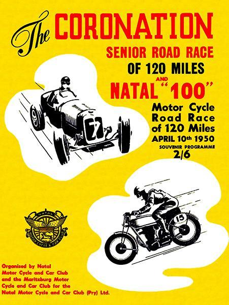 Primary image for 1950 Coronation Senior Road Race - Alexandra Park - Program Cover Poster