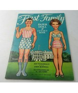 Vintage Paper Doll Cut Out Book 1981 First Family Ronald Nancy Reagan Pr... - $20.00