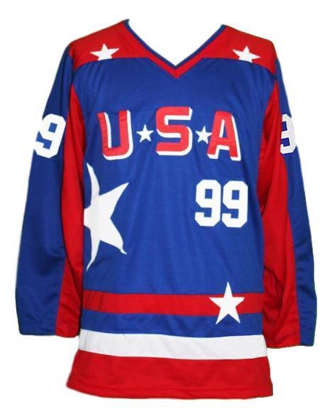 Banks  99 team usa retro hockey jersey blue   1