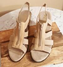 Aerosoles A2 Women's Grand Canyon Dress Sandal Bone 9.5 M - $18.50