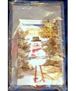 Snowman Sentiments Let it Snow Winter Plastic Canvas Kit House of White ... - $24.99