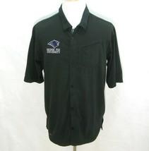 GEORGE FOX UNIVERSITY Mens Black NIKE Dri-Fit Short Sleeve Button Shirt ... - $12.95