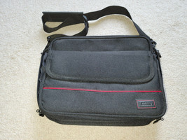 Targus Black W/ Red Stripe Computer Laptop Padded Case Bag With Shoulder... - $22.24
