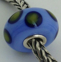 Authentic Trollbeads Ooak Murano Glass Unique Bead Charm #144, 13mm Diam... - $34.90