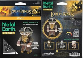 Lord of The Rings Gimli Metal Earth Legends 3-D Laser Cut Steel Model Ki... - $11.60