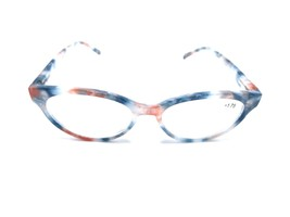 Ladies READING EYE GLASSES Matching POUCH Women +3.00 Blue Beige Clearance - $8.69