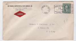 FEDERAL GOMPOSITION & PAINT COMPANY INC. HUD. TERM STATION NY 1923 - $1.78