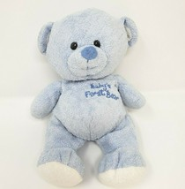Ty Pluffies 2007 Blue Baby's First 1ST Teddy Bear Stuffed Animal Plush Toy Lovey - $45.82