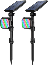 Litake Solar Spot Lights Outdoor, 2-in-1 Waterproof Color Changing Hallo... - $53.56