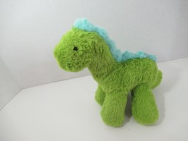 Manhattan Toy Co. plush green blue dinosaur beanbag feet 2016  - $5.93