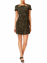 MICHAEL KORS Size XS Animal Print Cutout-Neck Fit & Flare Dress - $96.97
