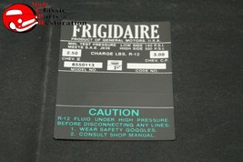 66 Frigidaire Air Condition Comp Decal (Green) GM#6550113 - $999.99